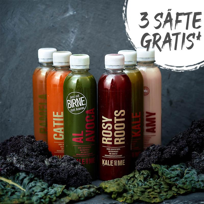Kale&Me Rabatt Code Gutschein Aktion Gratis Säfte